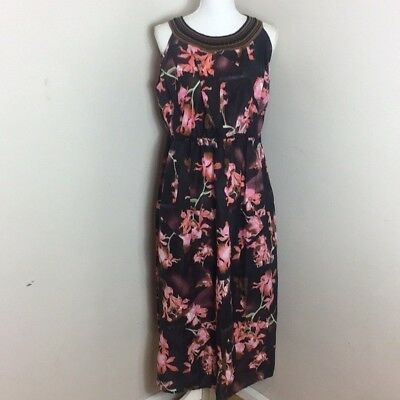 93499fed317c7 Lane Bryant Women s Plus Size 16 Sleeveless Floral Maxi Dress Knitted  Collar NWT