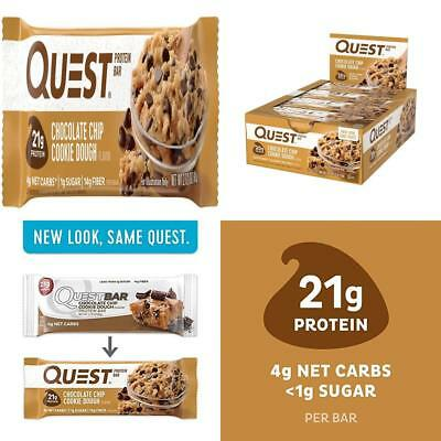 Quest Nutrition Chocolate Chip Cookie Dough Protein Bar, High Protein, Low...