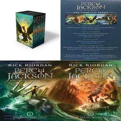 Percy Jackson and the Olympians 5 Book Paperback Boxed Set (new covers...