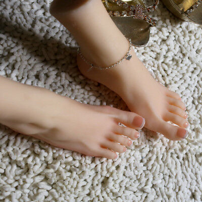 1Pair Silicone Feet Lifesize Female Leg Soft Mannequin Display Left Right Feet @