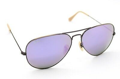 ec6eddc23d New Ray-Ban RB3025 167 4K Bronze Copper Lilac Mirror Aviator Sunglasses 58