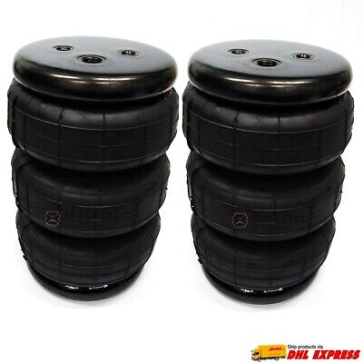 "Two triple bellow 2600 air bag single port 1/4""npt air spring ride suspension 3S"