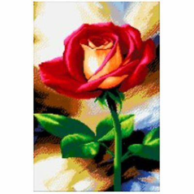 DIYFlower Pattern Art Painting Handmade Full Diamond Painting Wall Decoration  Q