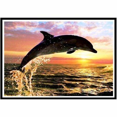 Dolphin Diamond Painting Embroidery Mosaic Painting Cross Stitch Rhinestone U2