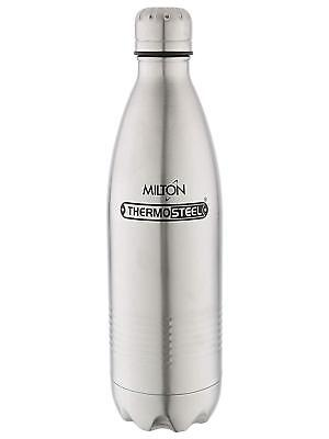 Milton Thermosteel Duo Deluxe-1000 Bottle Style Vacuum Flask, 1 Litre, Silver