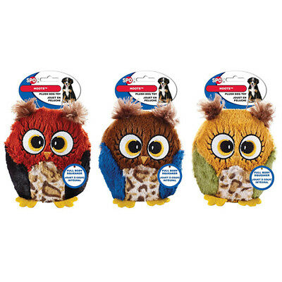 SPOT - Hoots Owl Plush Squeaker Dog Toy Assorted - 3 Inch
