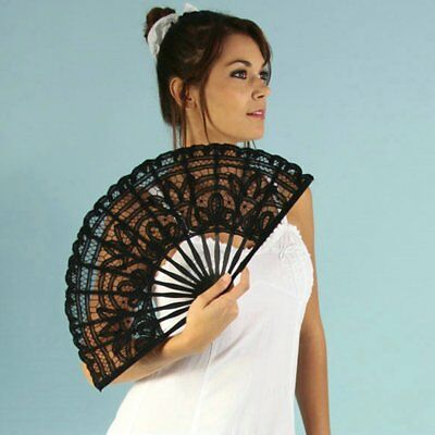 Creative Gift Lace Hand Fan Bamboo Chinese Wedding Favors Silk Vintage Folding-M