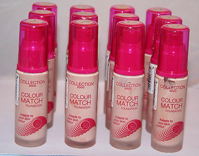 12 x Collection 2000 Colour Match Foundation | Natural | RRP £48