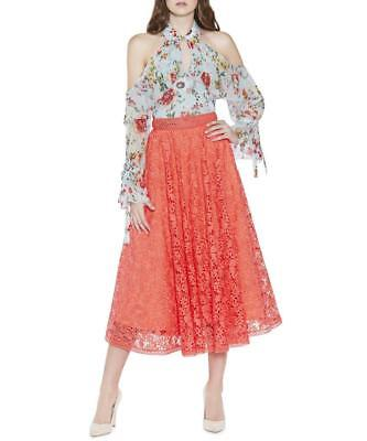 6683b88294 ALICE + OLIVIA Shannon Printed Pleated Maxi Skirt size 2, 4, 6, 8 ...