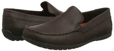 5be69fc32b5 ROCKPORT BAYLEY VENETIAN Mens Loafers Shoes Suede Chocolate Brown in ...