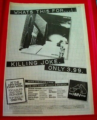 Killing Joke What's This For Vintage ORIG 1981 Press/Magazine ADVERT Poster-Size