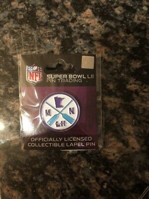 NFL Super Bowl 52 LII 2018 Lapel trading pin Wincraft patch PADDLE