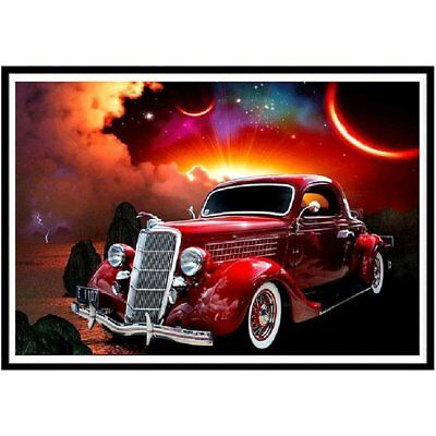 Car Diamond Painting Colourful Abstract Painting Home Decoration Gift N2