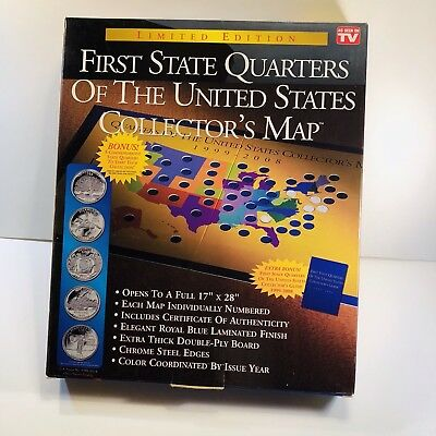 First State Quarters United States Collectors Map Limited Edition 1999-2008