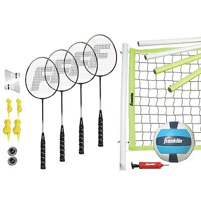 Franklin Sports Advanced Badminton and Volleyball Combo Set Top Quality Full