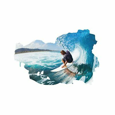 Creative 3D Surfing Pattern Wall Sticker Removable DIY Home Decor Wallpaper UE