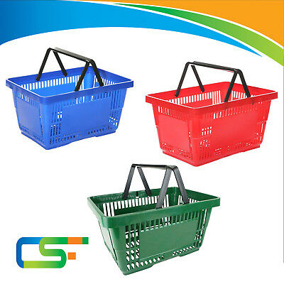 Customers Plastic Shopping Basket For Shop Store  With 2 Handles 21 Liter