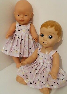 "17"" HANDMADE  DOLLS CLOTHES MADE TO FIT BABY BORN or LUVABELLA"
