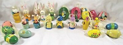 Lot 23 Easter Ornaments Bunny Chicks Birds Eggs