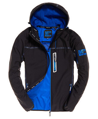 New Mens Superdry Sport Tracker Jacket Deep Charcoal