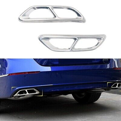 2pcs For Honda Accord 2018 2019 Stainless Rear cylinder exhaust pipe Cover Trim