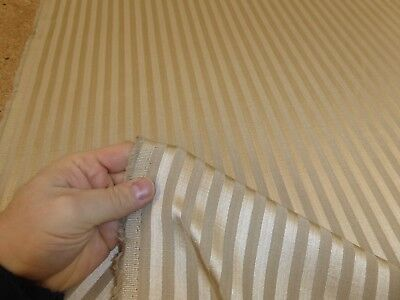 Job Lot - 10m of ANTIQUE GOLD - Striped Jacquard Curtain / Furnishing Fabric