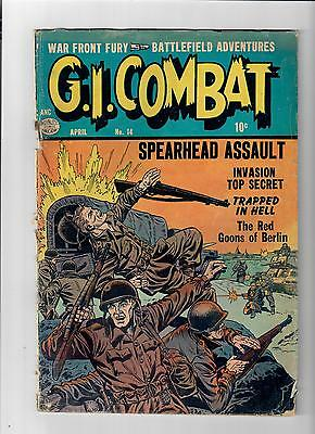 GI COMBAT #14 Gold Age war stories from Quality Comics!