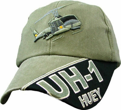 edbc80fc6f2ff U.s Army Uh-1 Huey Hat Embroidered Military Ball Cap Stone Washed Od Green