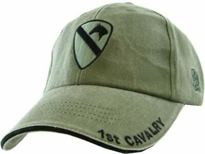 46ed1acea6667 Army 1St Cavalry Division Hat Embroidered U.s Military Ball Cap Stone  Washed Od