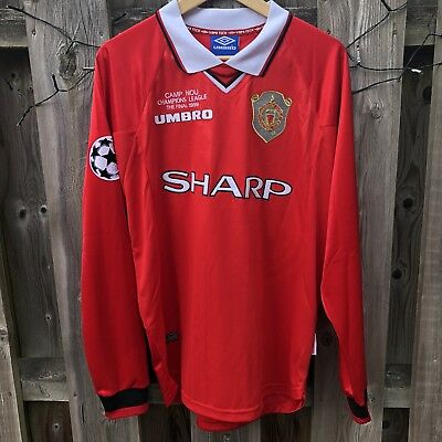 Manchester United 1999 Champions League L S Football Shirt