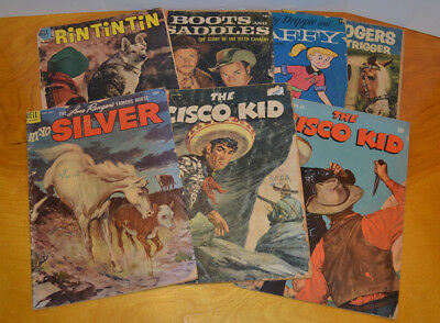 Vintage Western Comic Book Lot Golden Age & Silver Age Dell Rin Tin Tin 10 Cents