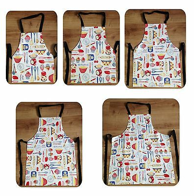 Baking Cupcakes Wipe Clean PVC Apron - Adult & Child Sizes Available