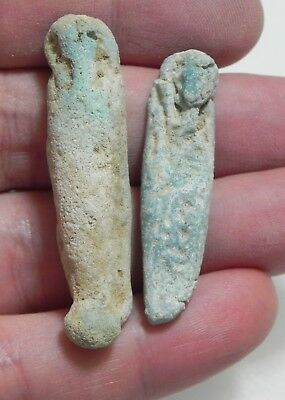 ZURQIEH -as9432-  ANCIENT EGYPT . LOT OF 2 ANCIENT USHABTIS ,  600 - 300 B.C