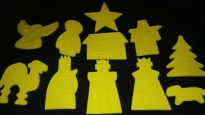 Vintage Land O'Lakes Nativity Cookie Cutters and Christmas Holiday Cookbook 1970