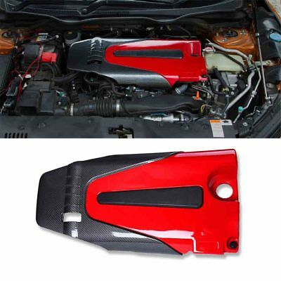 Carbon Look Engine Protector Cover for 2016-17 Honda Civic 10th Gen X Sedan 4DR