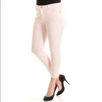01568038569c MICHAEL KORS IZZY Cropped Skinny Jeans embellished white/silver Size ...