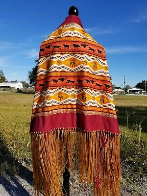 Night Call, Native American Style Shawl,Prayer,Meditation,Regalia, 14in Fringe