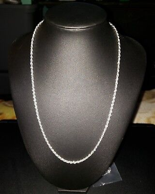 "2mm Womens Mens 925 Sterling Silver Rope Twist Chain Necklace 20"" New Unisex"
