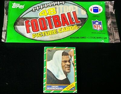 1986 Topps football grocery Cello pack from rack JERRY RICE STEVE YOUNG ROOKIE *