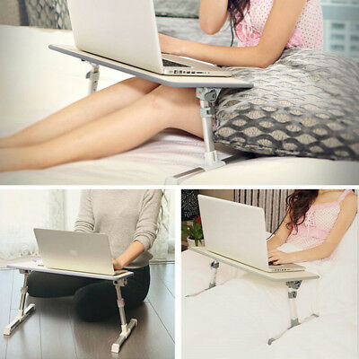 Adjustable Laptop Bed Tray, Portable Standing Desk Foldable Sofa Breakfast Table