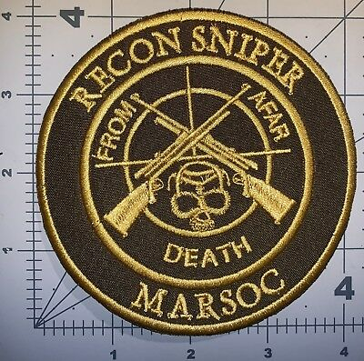 Usmc Od Recon Sniper Marsoc Patch Sew New (A152)