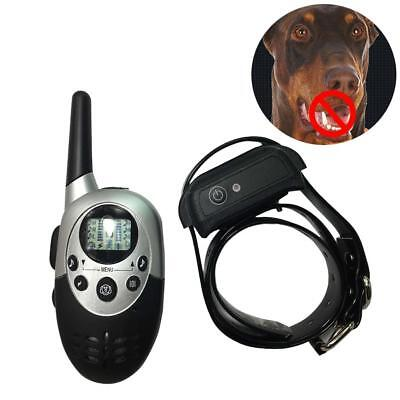 3 IN 1 1000 Yard Rechargeable Waterproof Dog Remote Training Pet Collar Receiver