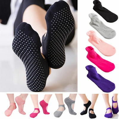 Yoga Socks Exercise Shoes Anti Slip Non Skid Grip For Pilates Dance Barre Ballet