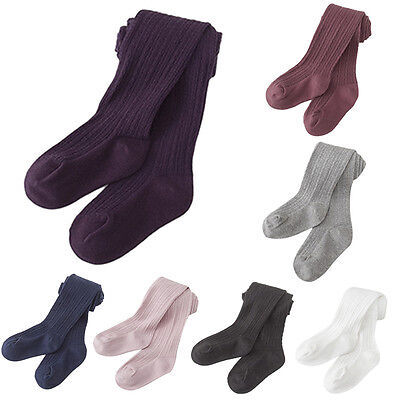 Cute Newborn Toddler Baby Kids Girls Soft Knit Cotton Tights Stockings Pantyhose