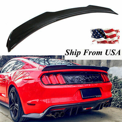 Real Carbon Fiber GT H Style Trunk Spoiler Wing Lid For 2015 - 2017 Ford Mustang