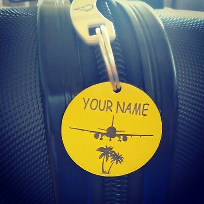 X 4 Personalised Luggage Tags Travel accessories Labels ID Tags Pet ID Tags