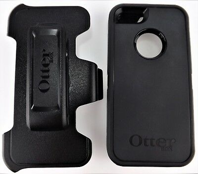 Genuine OtterBox Defender Case w/ Belt Clip for Apple iPhone 5/5s/SE Black