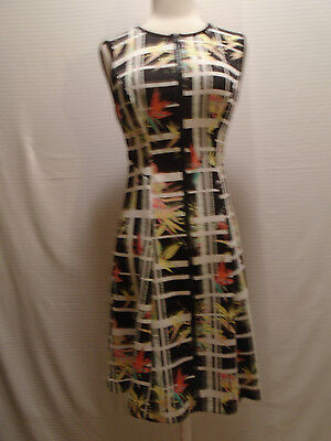 ECI Woman's Multi Color Sleeveless Floral Sleeve Dress  Size 2