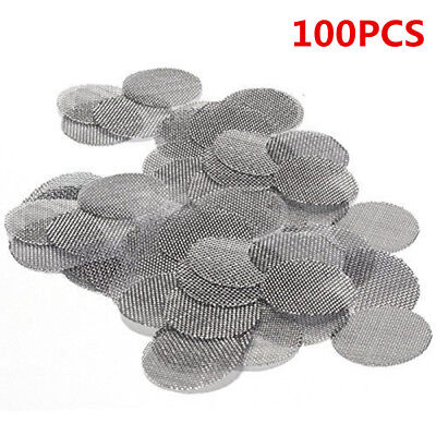 100Pcs/Lot Stainless Steel Metal Tobacco Smoking Pipe Screen 20mm Metal Filters