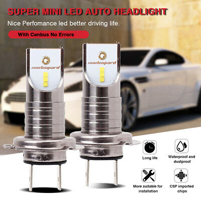 H7 CSP Chips 110W 26000LM Car LED Headlight Bulb Canbus Error Free 6000K White